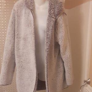 Pink plush jacket M/l. Nwot